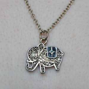 Jewelry - BLACK and GOLD ELEPHANT Necklace